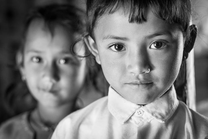 Ecolières au Népal