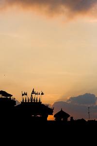 Couché de soleil sur Dattatraya - Bhaktapur, Népal