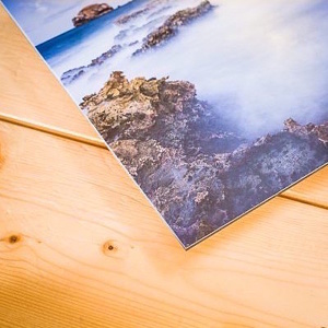 Photographie d'art contrecollée sur une plaque de Dibond® 3mm