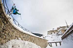 Freestyle au fort de Briançon - France