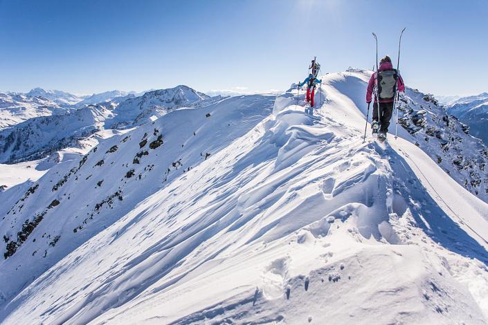 Ski alpinisme dans le Beaufortain. Savoie, France