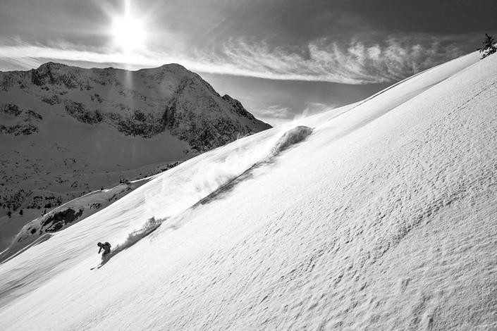 Freeride dans le Beaufortain - Savoie, France