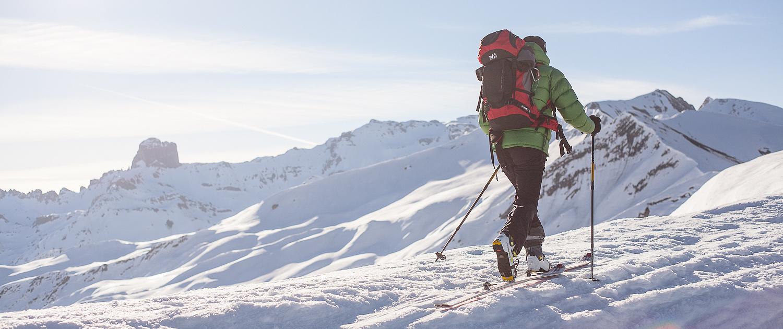 Skieur de randonnée à la Charmette - Beaufortain, France