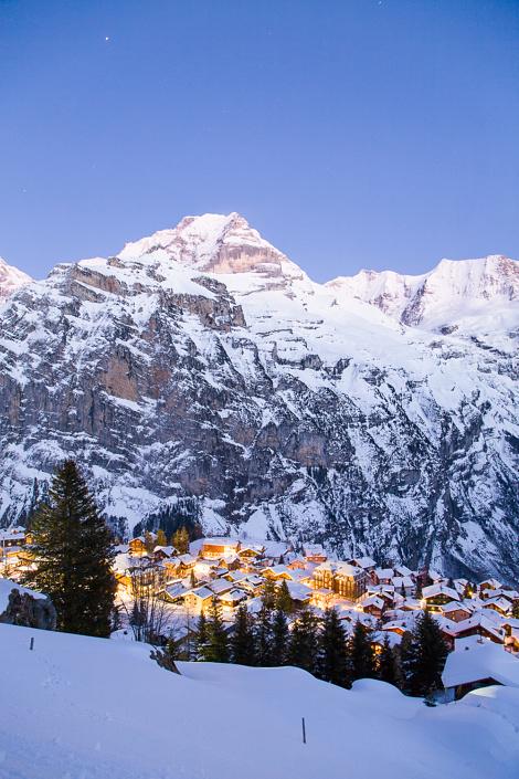 Le village de Mürren, Suisse