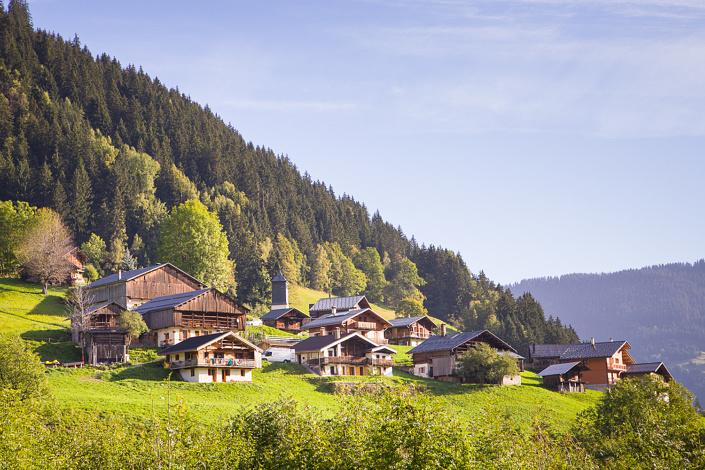 Paysage du hameau de La Dray - Arêches-Beaufort, Savoie