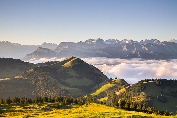 Paysage sur le sommet du Rigi - Suisse