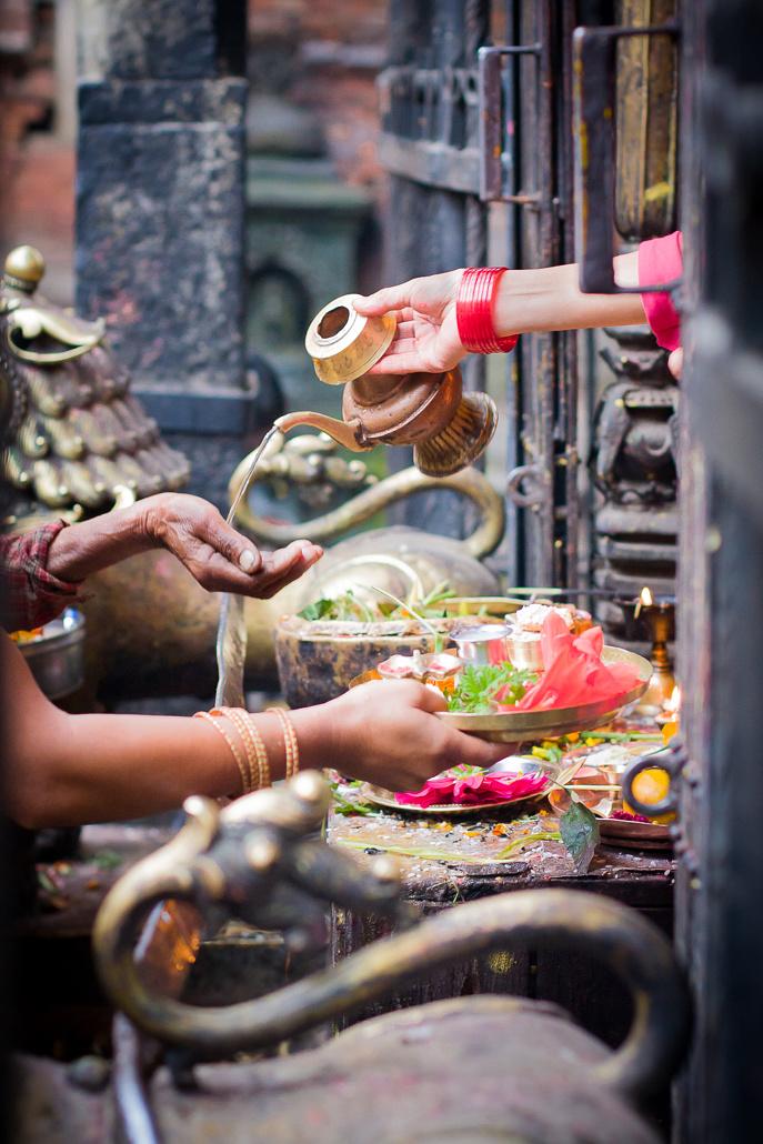 Offrandes - Bhaktapour, Népal