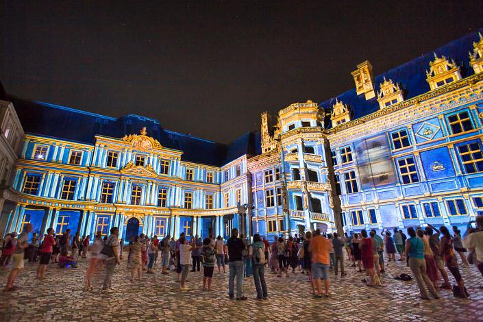 Spectacle son et lumière au château de Blois
