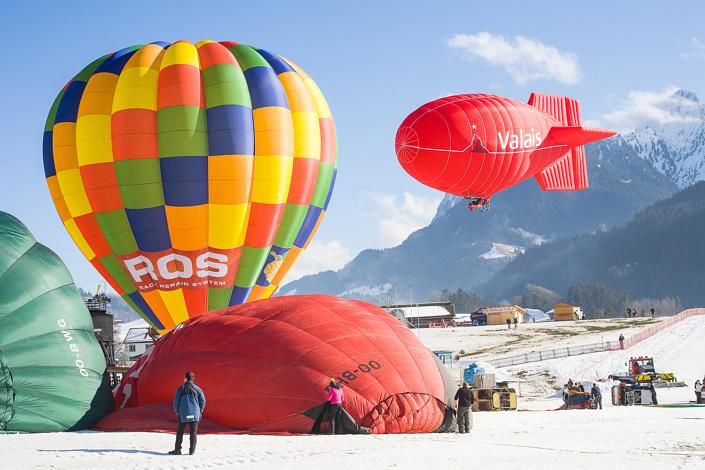Festival International de Ballons. Château-d'œx, Suisse