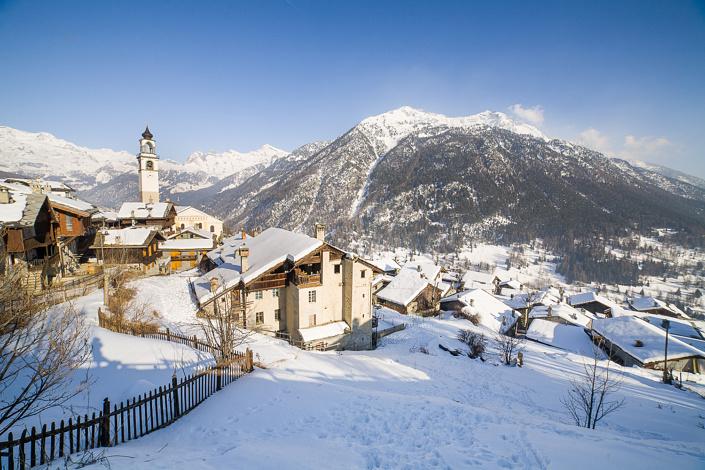Antagnod. Val d'Aoste, Italie