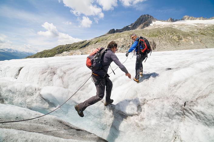 Randonnée sur le Glacier du Rhône avec Peter Gschwendtner - Suisse