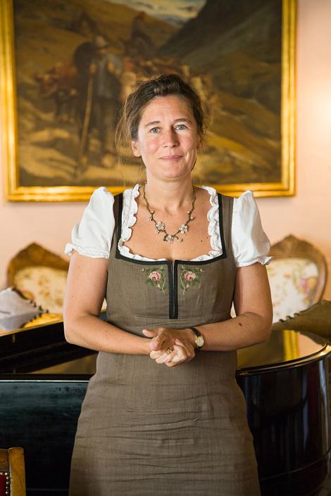 Laura Roullet, gérante de l'hôtel Bellevue. Cogne, Italie